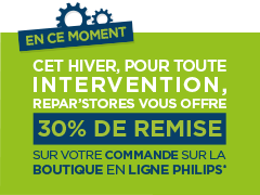 30% chez Philips avec Repar´stores