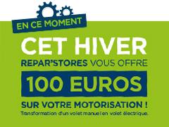 100 € offerts sur votre motorisation