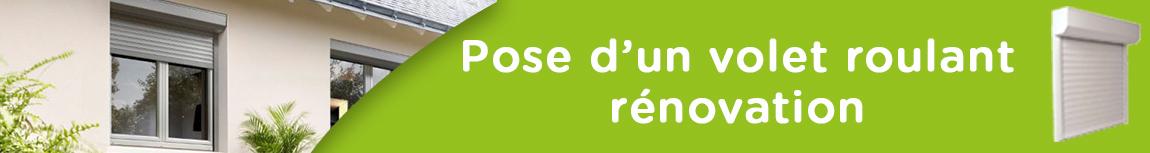 Fourniture et pose d´un volet roulant monobloc ou rénovation